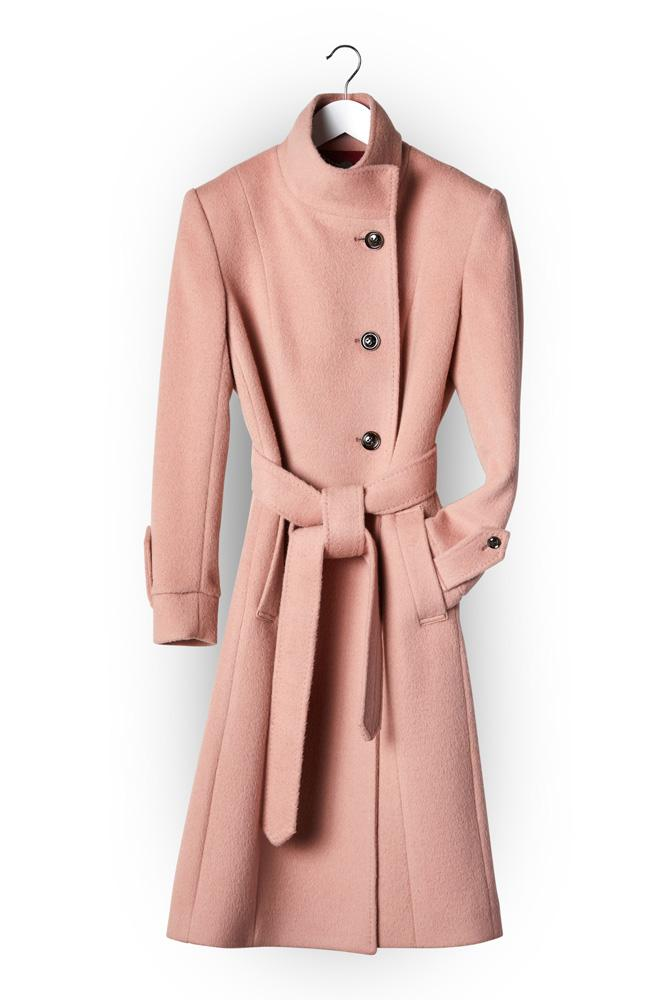 Tayla (Long) Coat - Ballet Pink Angora and Wool