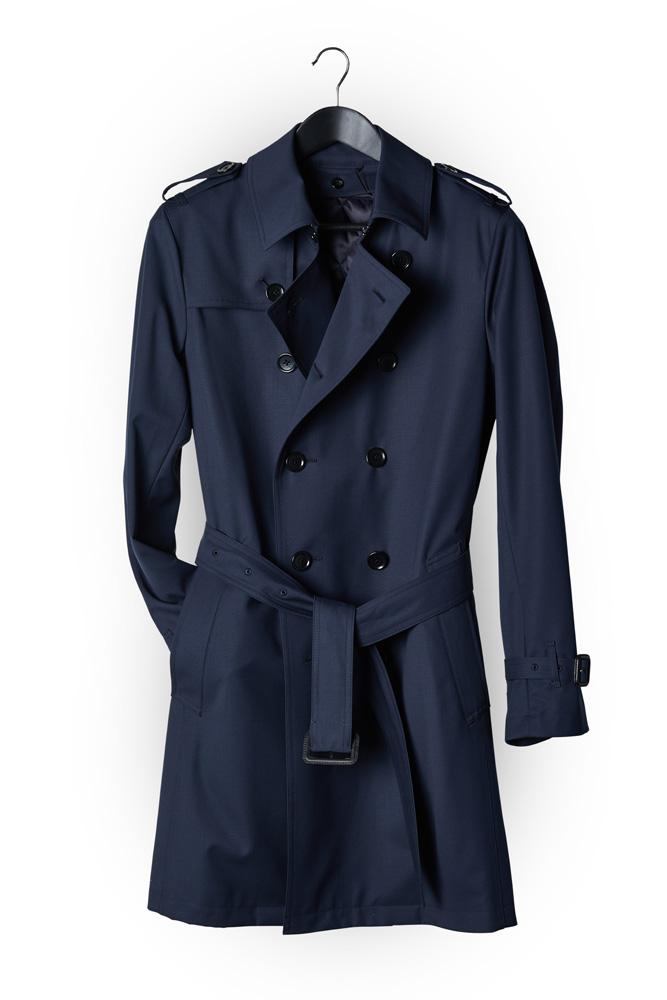 Theodore Trench Coat -  Opti-Tech Navy Wool