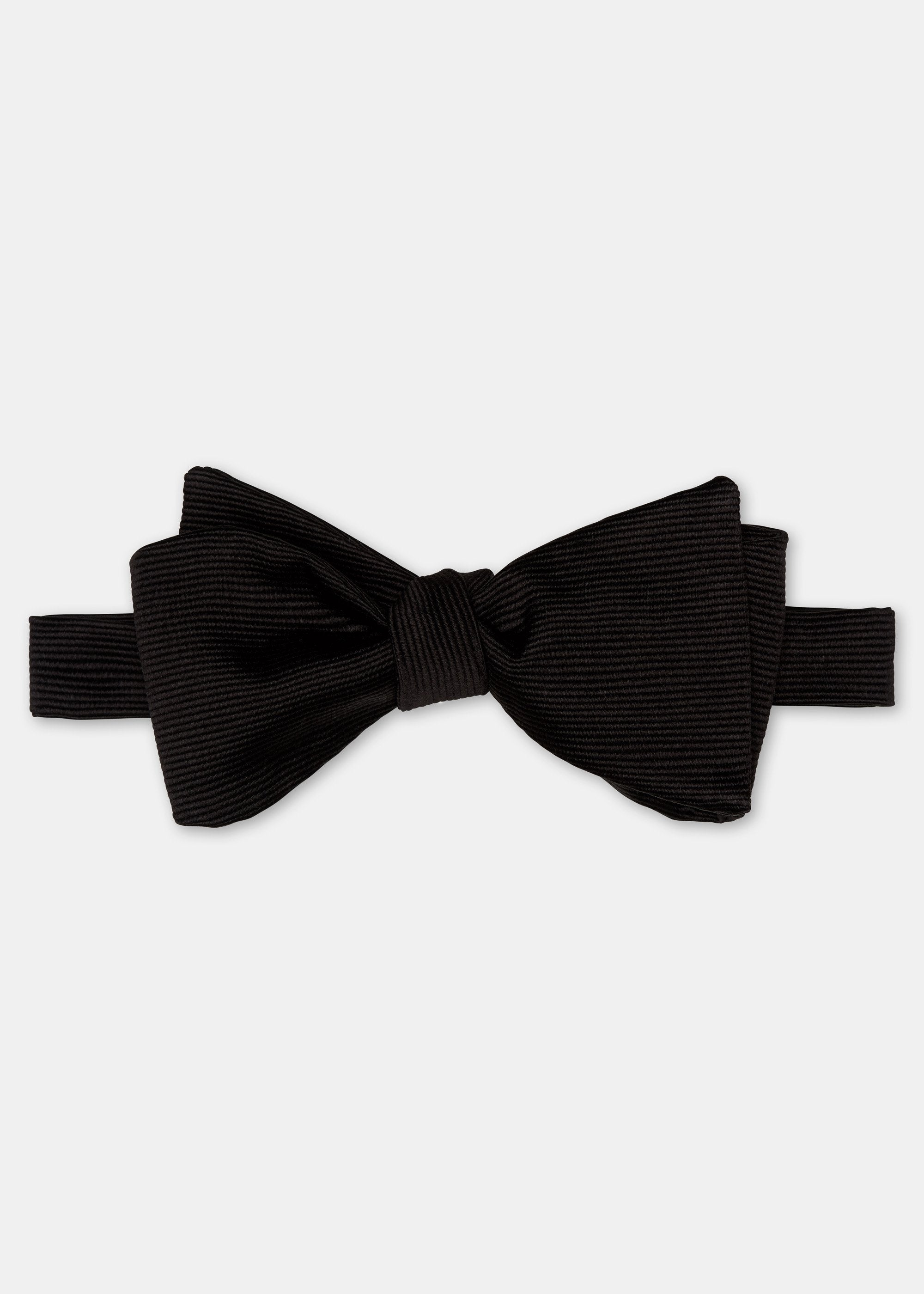 Silk Gross Grain Tie-it-Yourself Bow Tie - Black