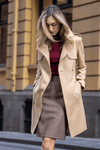Martina (Mid) Trench Coat - Camel Wool