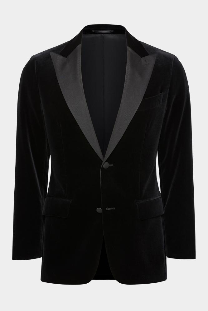 Matias Cocktail Jacket - Black Velvet