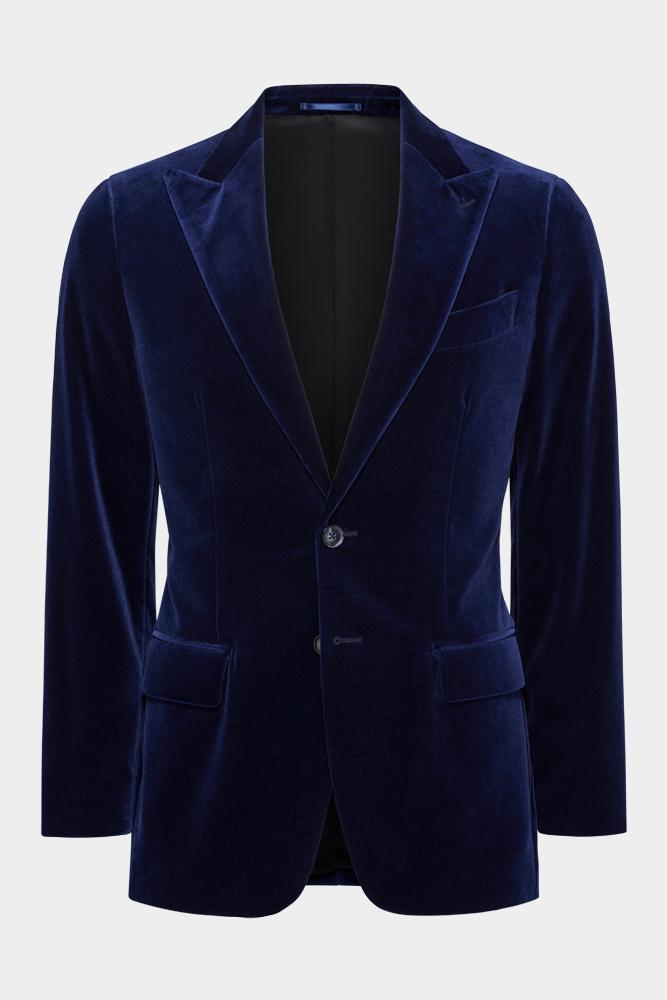 Matias Cocktail Jacket - Navy Velvet