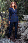 Luna Suit - Navy Green Burgundy Check