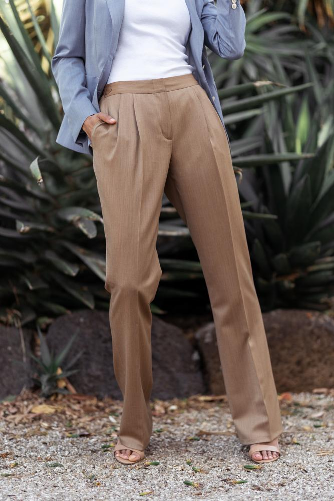 Harper 2 Wide Leg Pant - Golden Brown