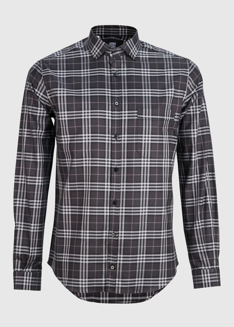 Archer - Black Grey Large Check