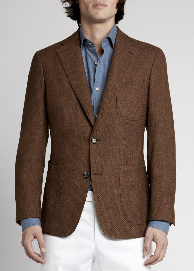 Julius Sports Jacket - Caramel Knit