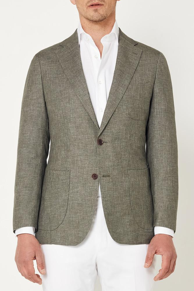 Julius Sports Jacket - Light Olive Distort
