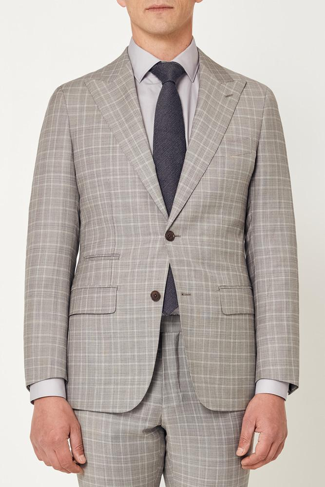 Jonah Suit - Grey White Check