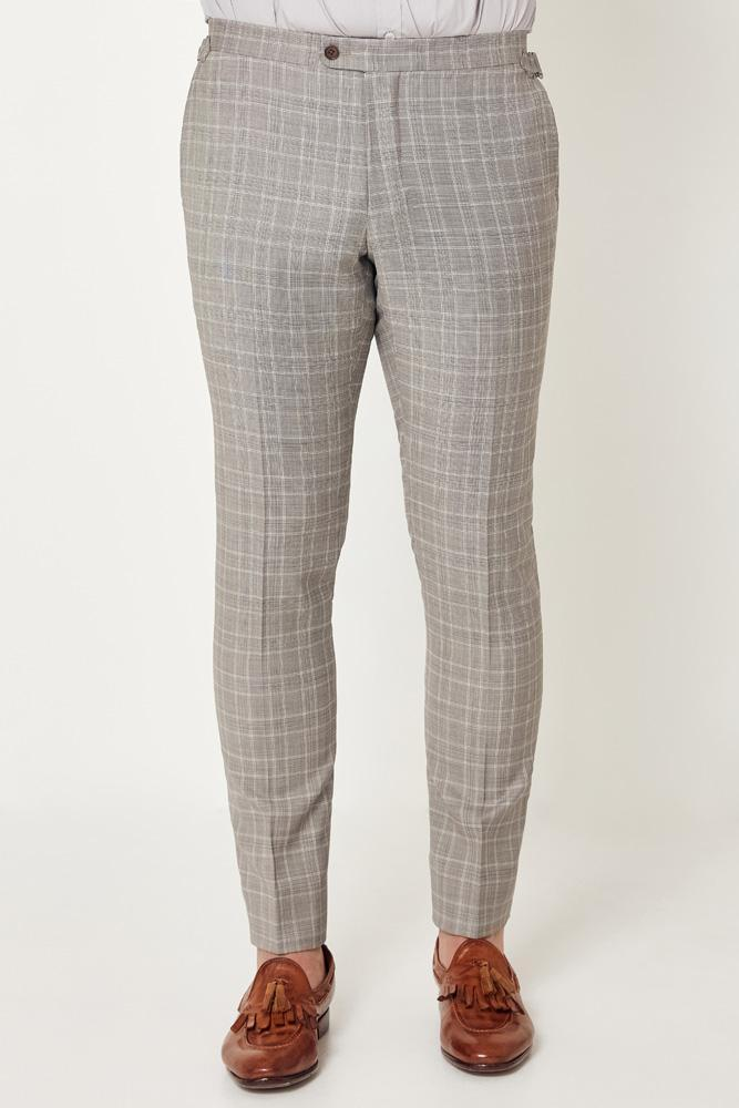 Apollo Trouser - Grey White Check