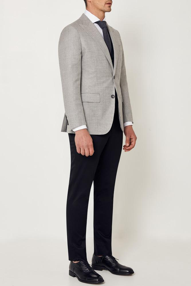 Matias Sports Jacket - Grey White Houndstooth