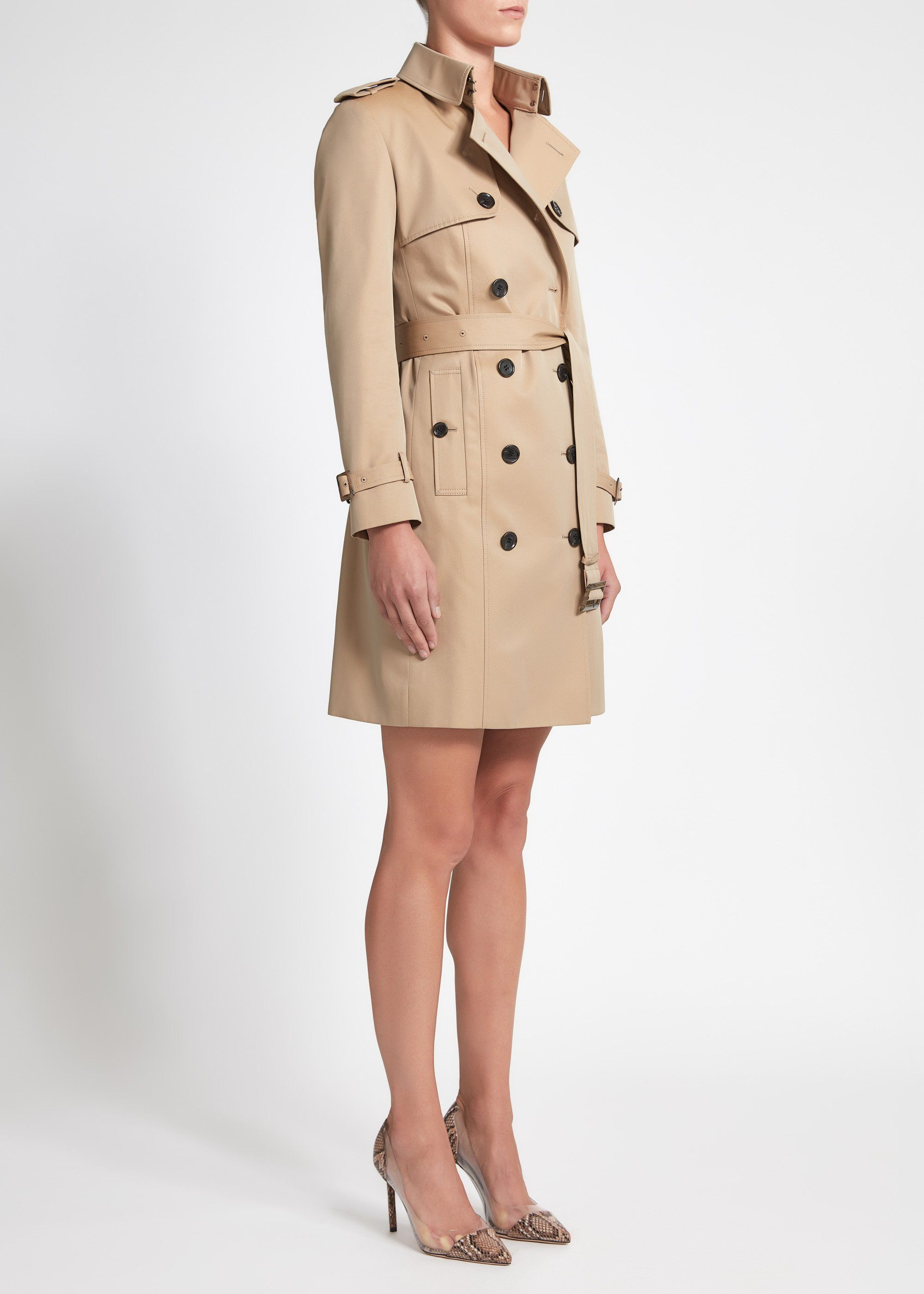 Martina (Mid) Trench Coat - Sand Cotton