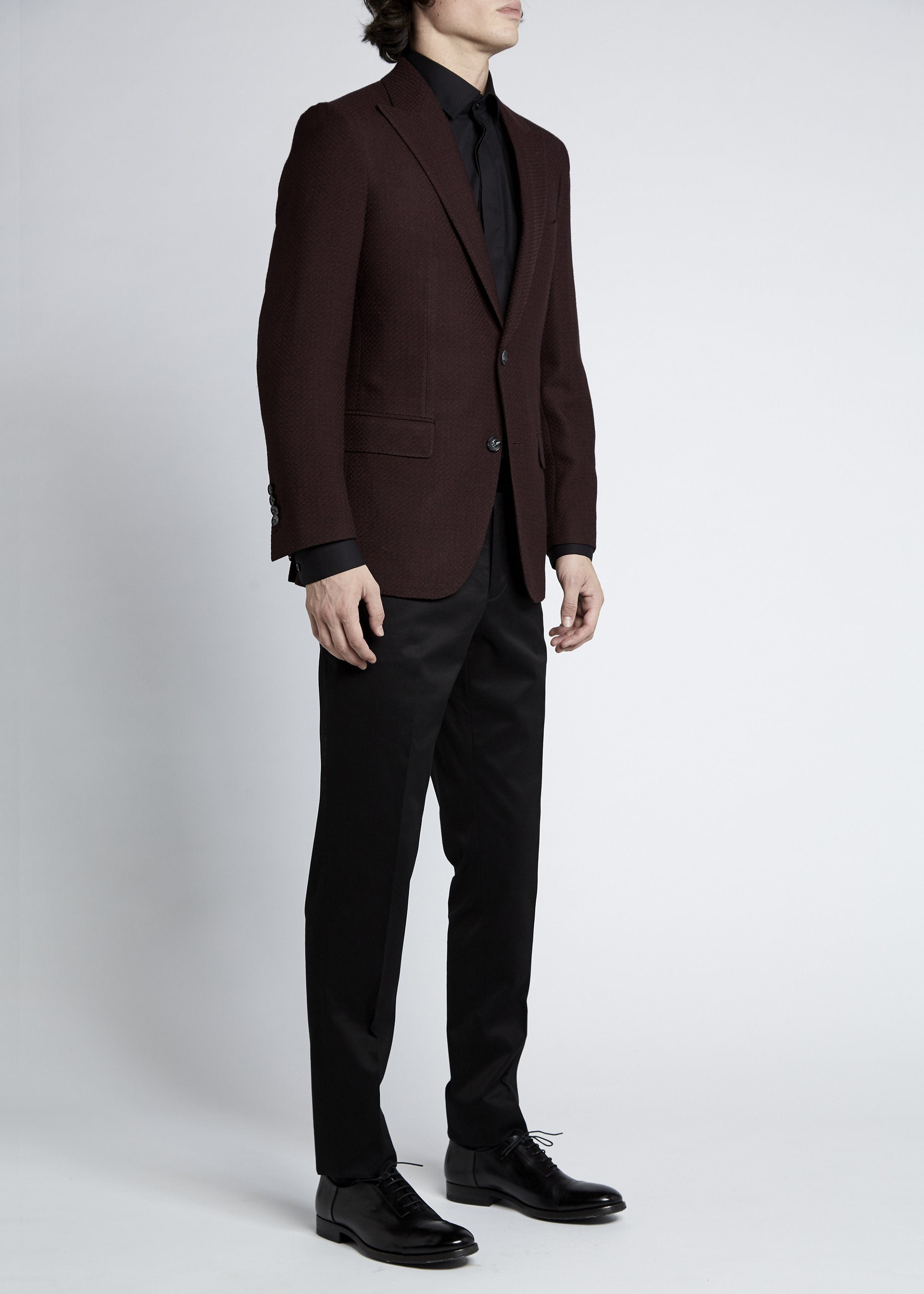 Matias Sports Jacket - Burgundy Knitted