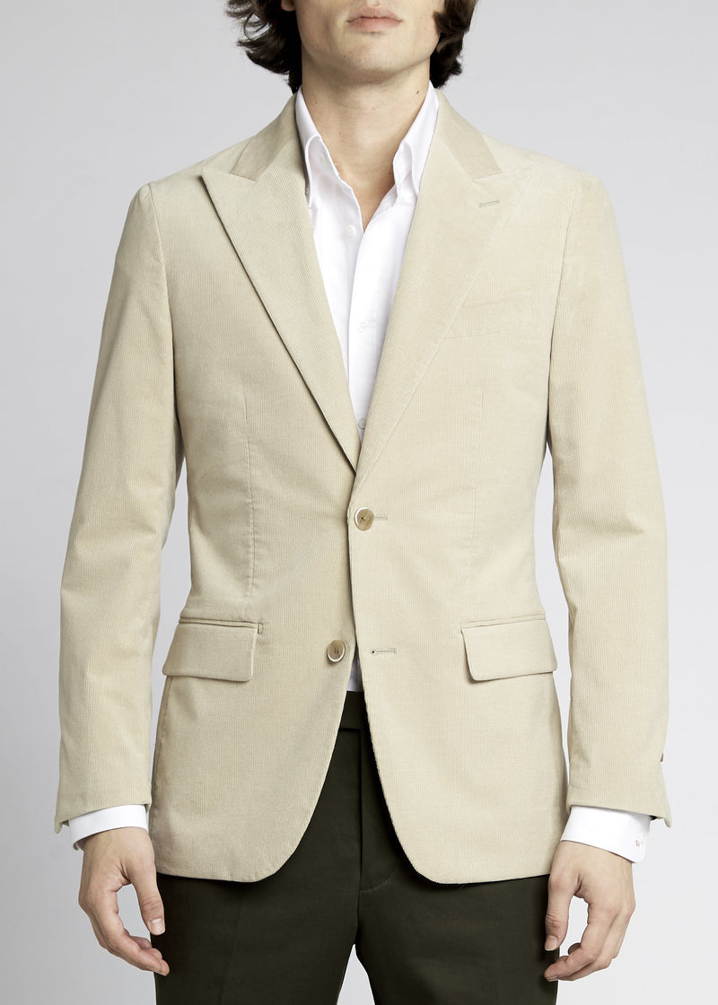 Matias Sports Jacket - Winter White Cord