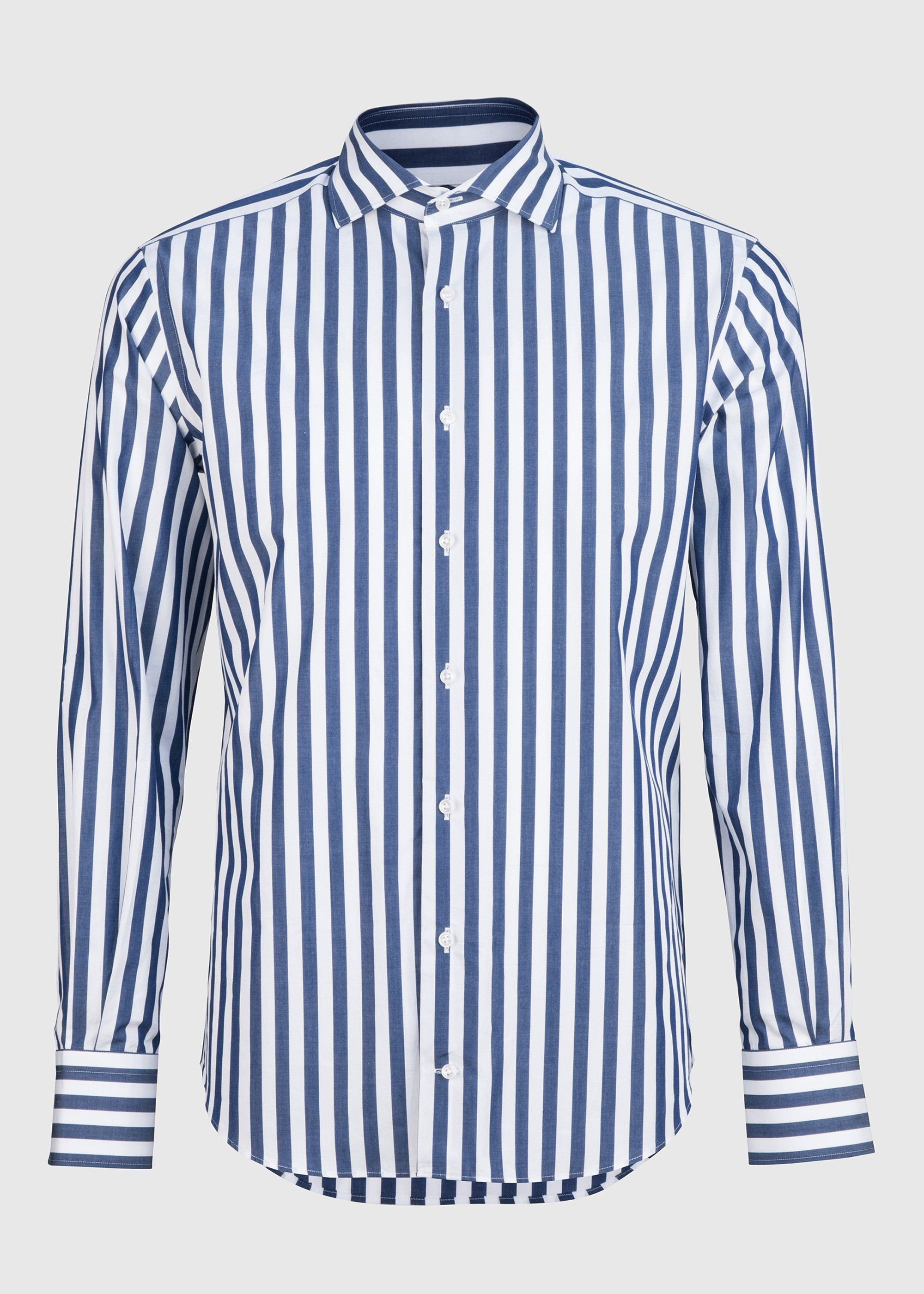 Pilot (BC) Shirt - Extra Large Navy Stripe