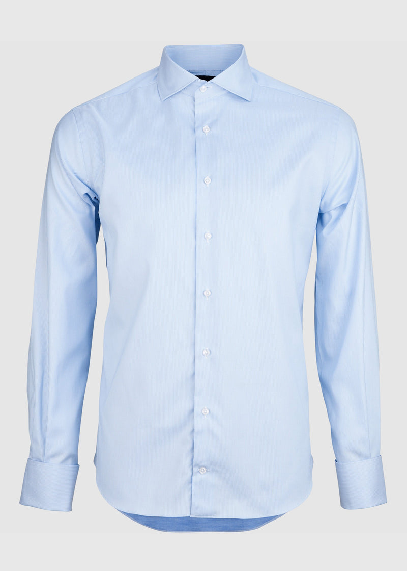 Pilot (FC) Shirt - Light Blue Micro Pin Oxford