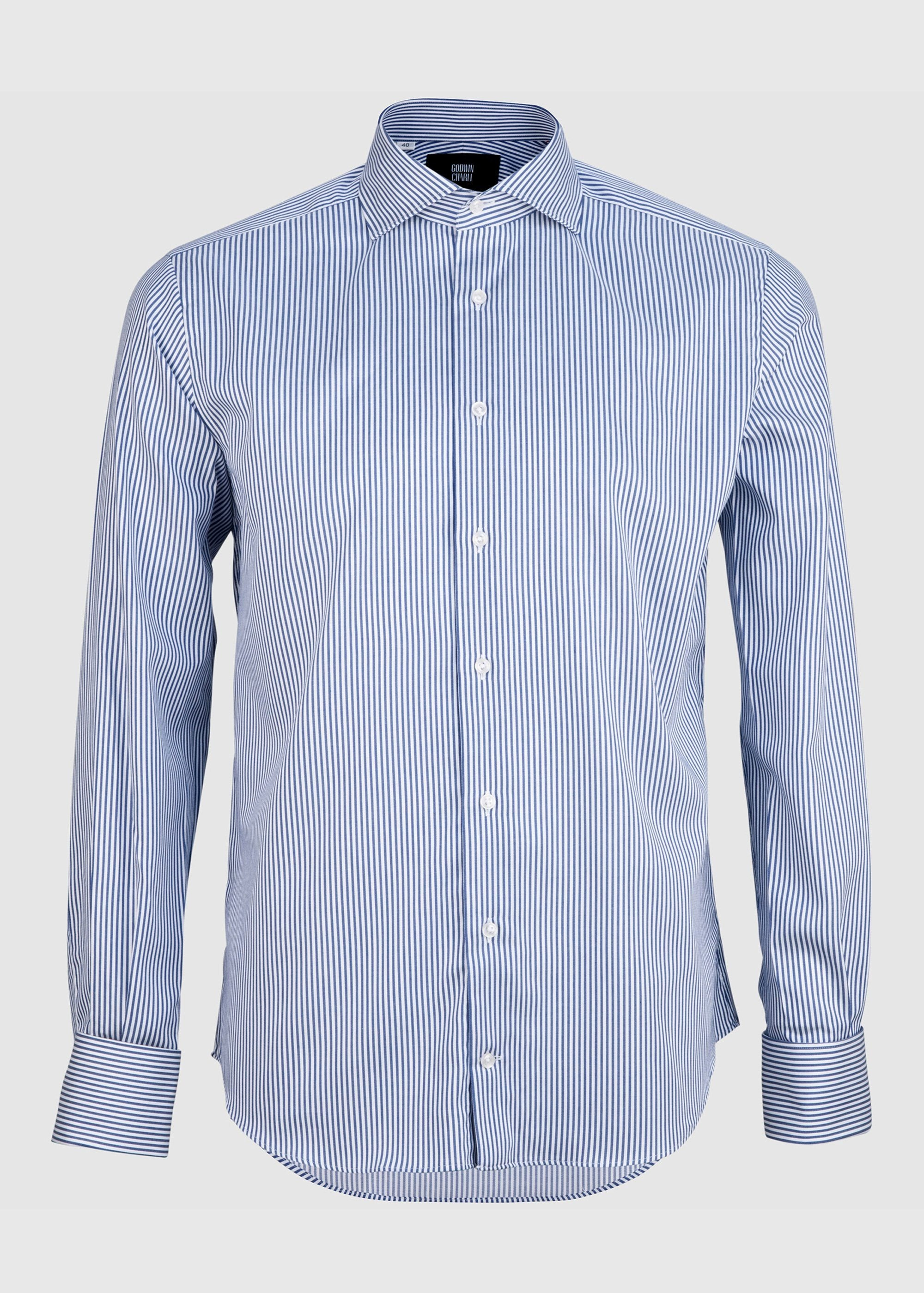 Pilot (FC) Shirt - Navy Pin Stripe