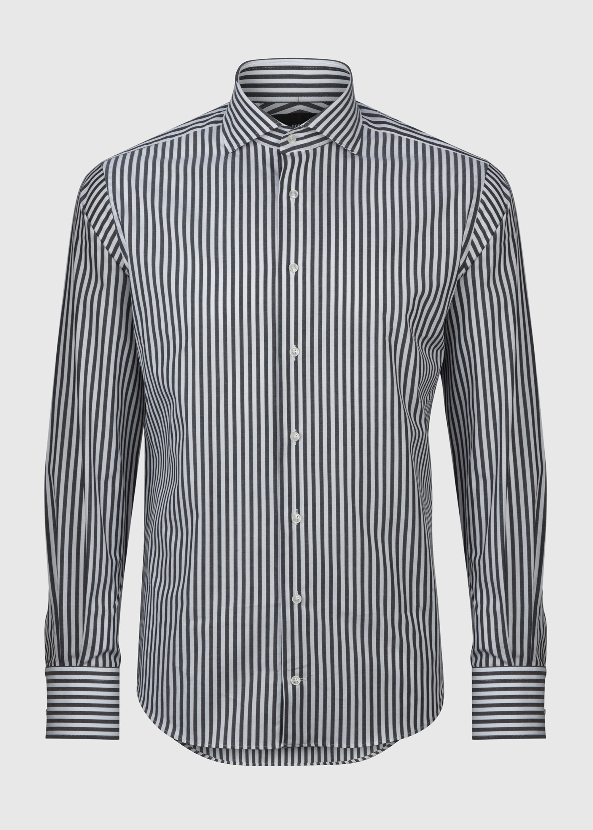 Pilot (BC) Shirt - Black White Pin Stripe