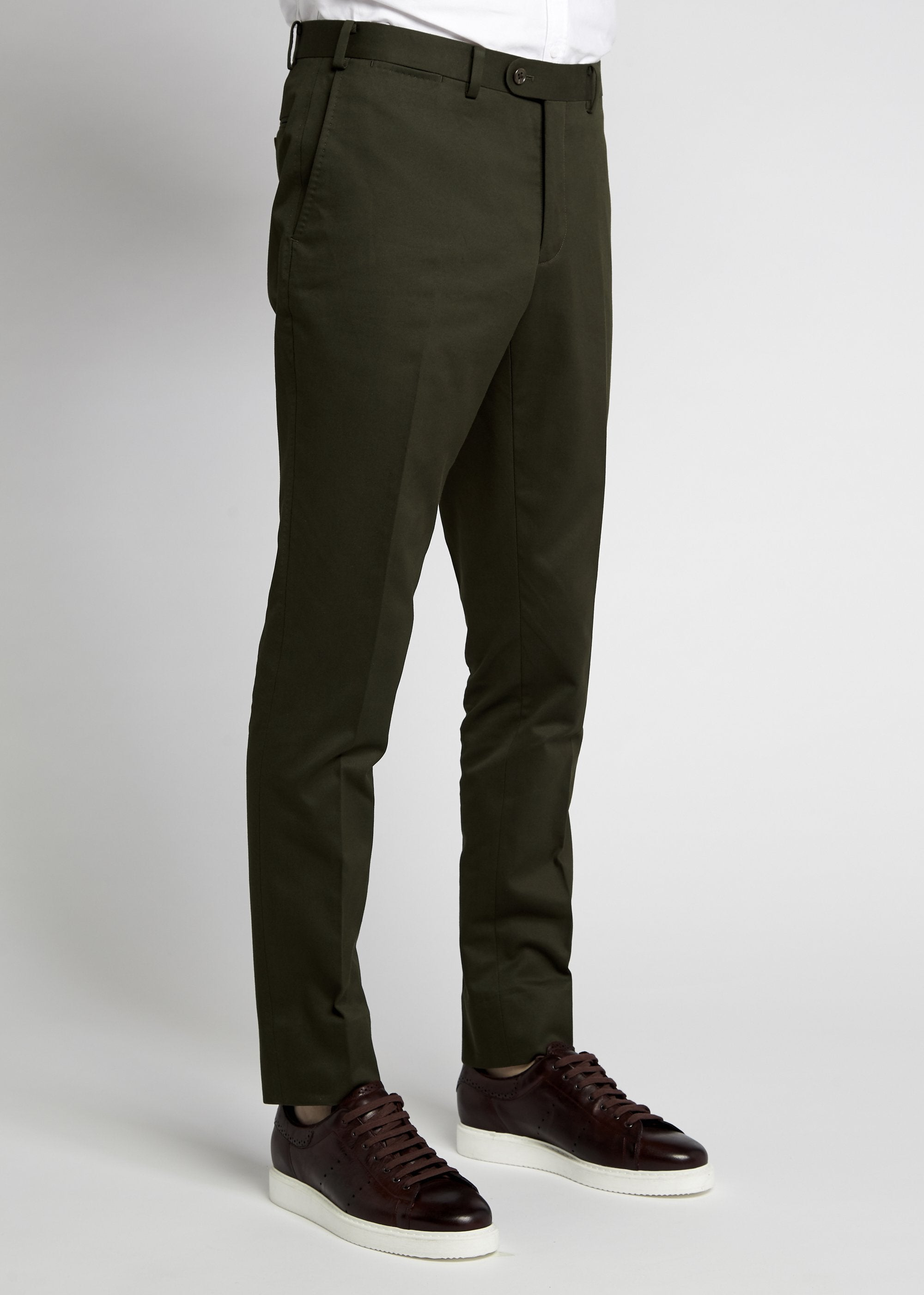 Xander Trouser - Olive Twill
