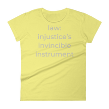 Load image into Gallery viewer, law: injustice's invincible instrument