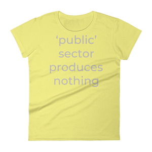 'public' sector produces nothing