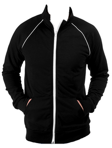 Piped Fleece Zip Jacket