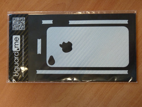 iPhone 4/4S white carbon guard sticker protection
