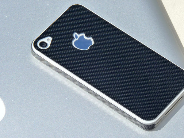 iPhone 4 and 4S black lenticular sticker guard in style