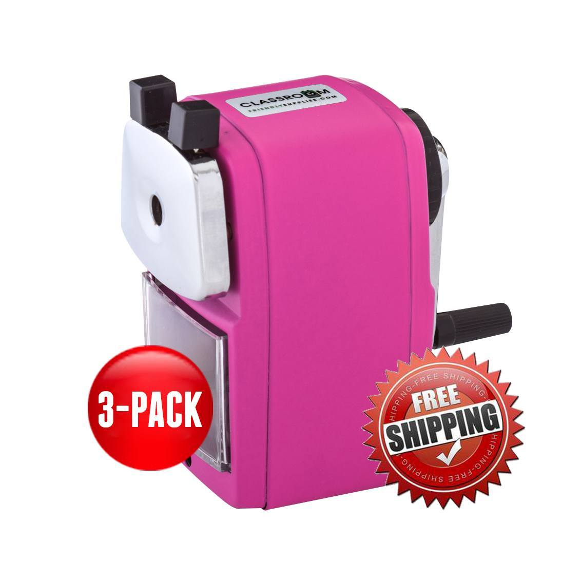 Teacher Special 3 Pink (Buy 3 for only $17.99 each) - Classroom Friendly Supplies  - 1