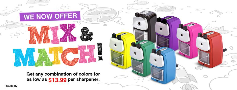 pencil sharpeners - assorted colors