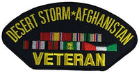 DESERT STORM AFGHANISTAN VETERAN w/5 RIBBONS PATCH - Veteran Owned Business