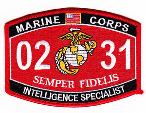 US Marine Corps 0231 Intelligence Specialist MOS Patch