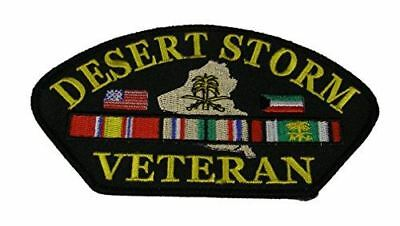 DESERT STORM VETERAN W/ COUNTRY FLAGS AND SERVICE RIBBONS PATCH ODS GULF WAR