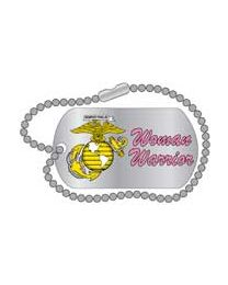 Woman Marine Dog Tag Pin