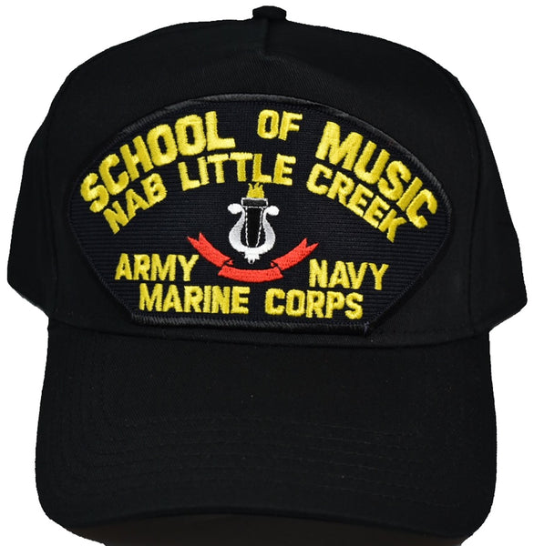 Little Creek School of Music Marine Navy Army Hat - Black - Veteran Owned Business