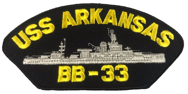 USS ARKANSAS BB-33 SHIP PATCH - GREAT COLOR - Veteran Owned Business