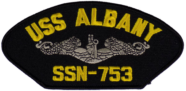USS ALBANY SSN-753 PATCH - Silver Dolphins - Found per customer request! Ask Us!