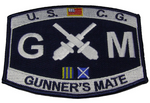 USCG COAST GUARD GUNNER'S MATE GM RATING MOS PATCH VETERAN CROSSED CANNONS
