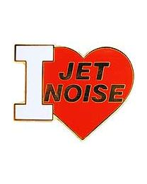 I Love Jet Noise Pin - HATNPATCH