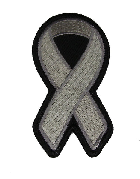 GREY RIBBON AWARENESS PATCH