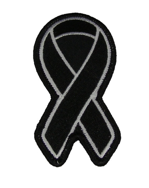 BLACK RIBBON FOR MELANOMA AWARENESS PATCH - HATNPATCH