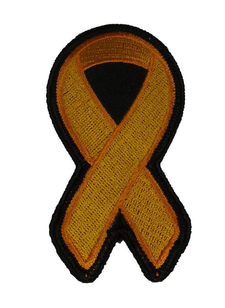 ORANGE RIBBON LEUKEMIA AND MULTIPLE SCLEROSIS AWARENESS PATCH - HATNPATCH