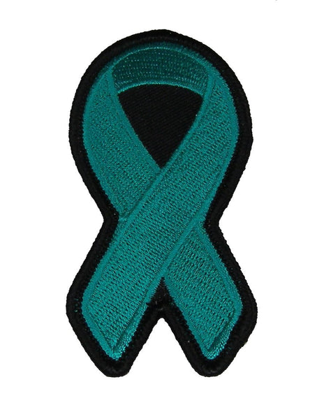 TEAL RIBBON FOR OVARIAN CANCER AWARENESS PATCH - HATNPATCH