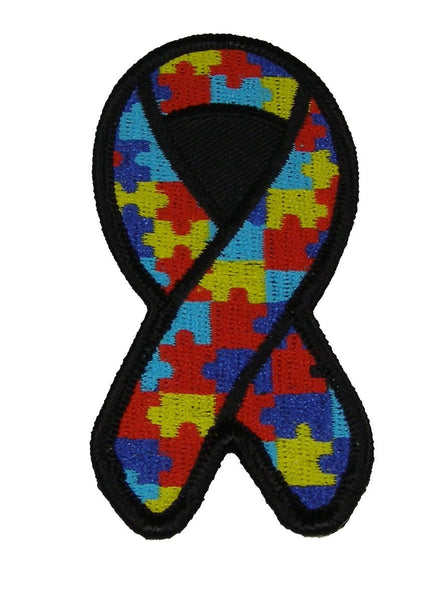 PUZZLE RIBBON FOR AUTISM AWARENESS PATCH