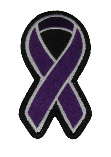 DARK PURPLE RIBBON FOR CAREGIVER AWARENESS PATCH