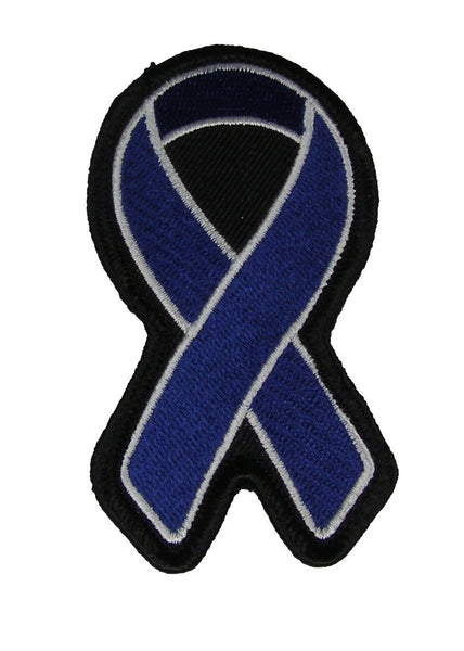 DARK BLUE RIBBON FOR COLON CANCER AWARENESS PATCH