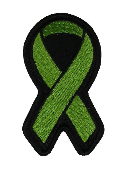 LIME GREEN RIBBON FOR LYMPHOMA AND BLOOD CANCERS AWARENESS PATCH - HATNPATCH
