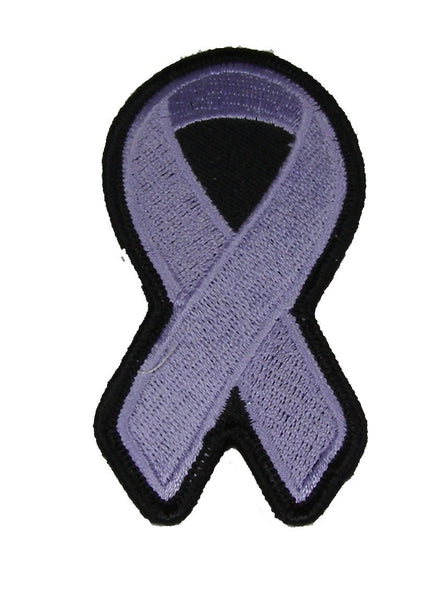 LAVENDER RIBBON FOR ALL CANCERS AWARENESS PATCH - HATNPATCH