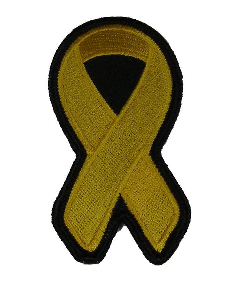 GOLD RIBBON FOR CHILDHOOD CANCERS AWARENESS PATCH - HATNPATCH