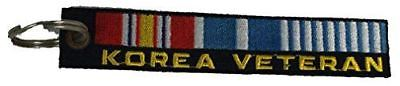 KOREA VETERAN KEY CHAIN WAR CONFLICT 38TH PARALLEL DMZ CAMPAIGN RIBBON - HATNPATCH