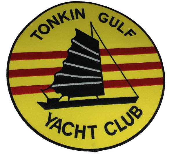 Large TONKIN GULF YACHT CLUB Jacket Back Patch - HATNPATCH